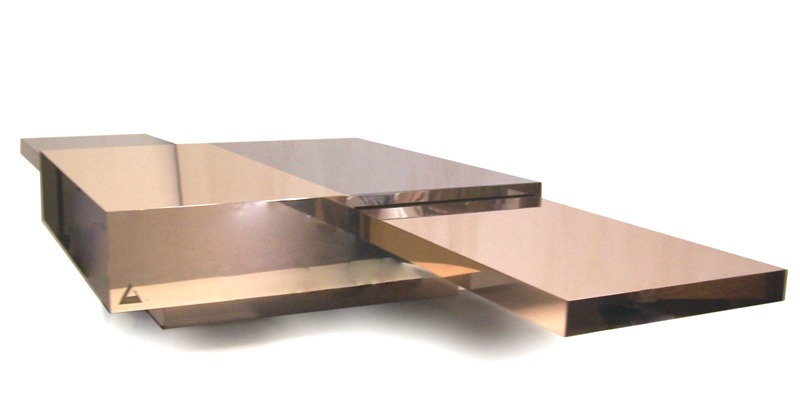New Bronze Age 2015  Tavolo Dama Bronze, stainless steel