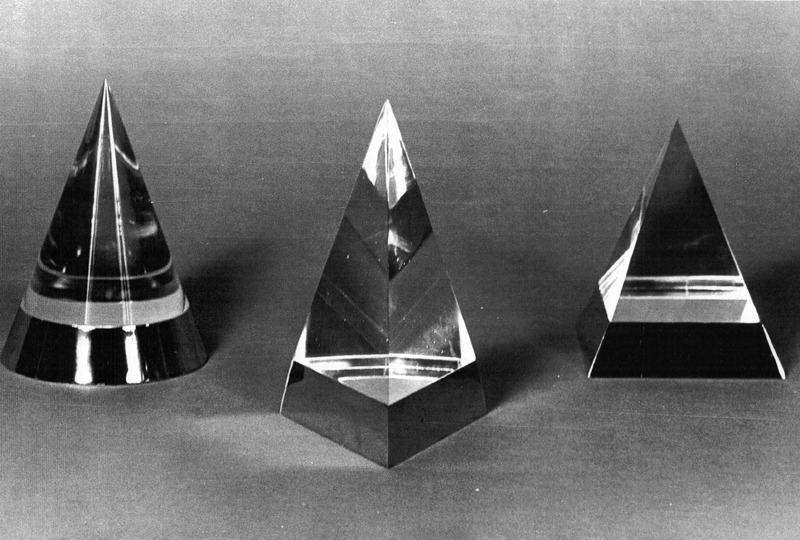 Scatola Cono, Scatola Piramide, 1970