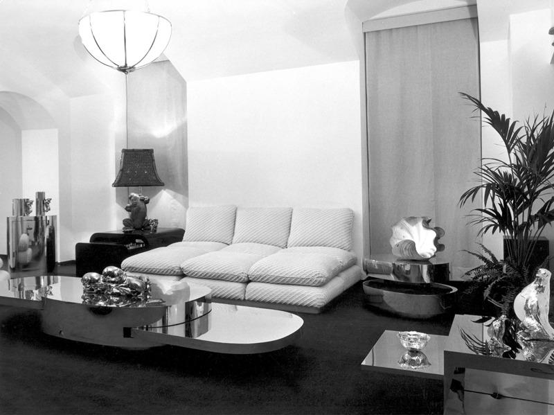 Showroom in the 1970s