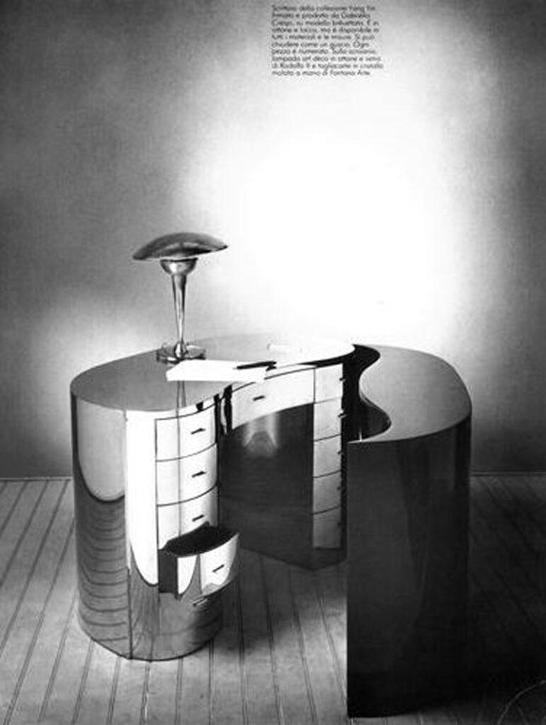 "Yang Yin Desk/Bookcase, 1979  ""Oggettivo e Soggettivo"" Gran Bazaar, February 1980 Photo by Christopher Broadbent"